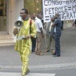 <b>Manifestation devant l'ambassade du Congo-Brazzaville</b> <br />
